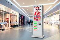 Commercial Advertising Cell Phone Charging Station Kiosk, 42 Inch LCD Screen Digital Signage