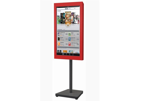 32 Inch LCD Digital Signage System , Semi Outdoor Digital Signage Advertising Stand