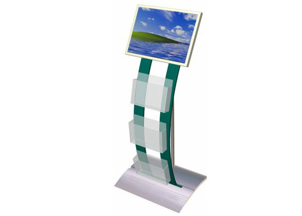 Open Source Digital Signage with Brochure Holder , Indoor Plug & Play LCD Advertising Screens Display