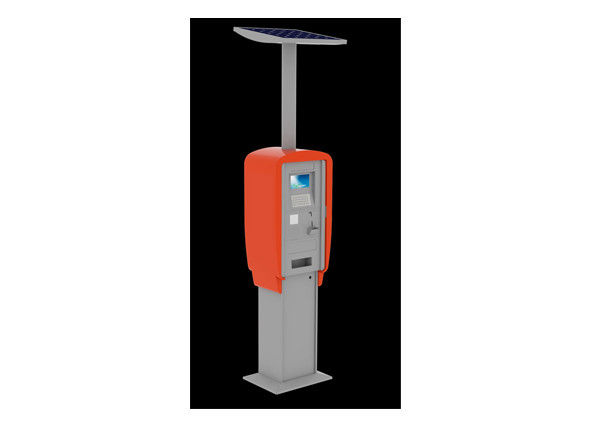 Steel Cabinet Self Service Weather Proof Interactive Kiosk Solutions with 7 inch LCD
