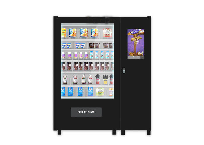 Customize Glass Bottle Drink Snack Vending Machine With Large Touch Screen