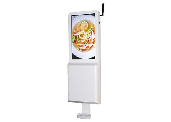"21.5"" Touch Free 35W Lcd Signage Hand Sanitizer Dispenser"