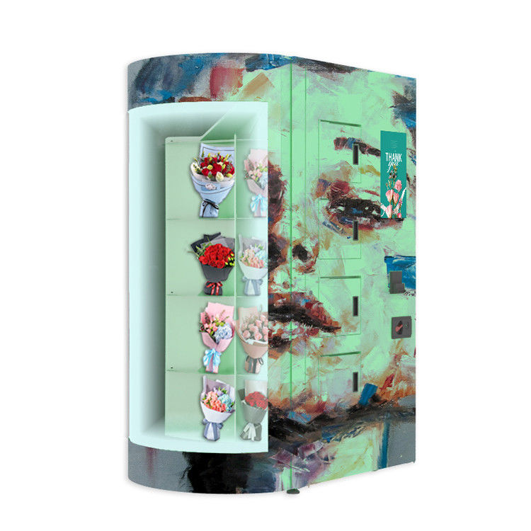 European Standard 24 Hours LED Bouquet Vending Machine Flower Vending Locker